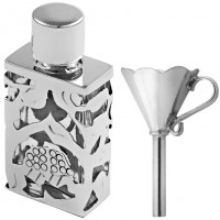 GT486   Rectangular Perfume Bottle and Funnel Set Sterling Silver Ari D Norman